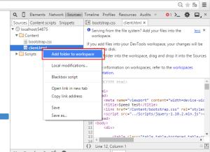 Add folder to  Workspace