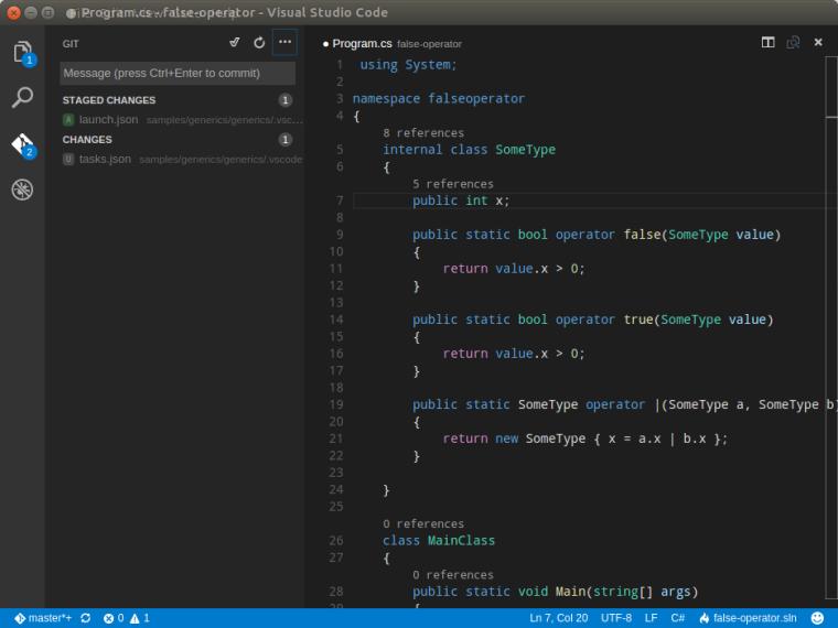 VS Code Git Support