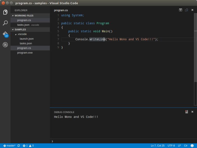 VS Code Debug Console