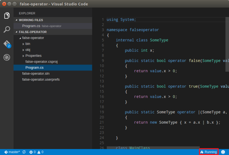 VS Code Is Parsing Project File